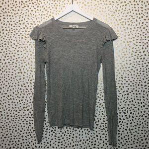 MADEWELL LONGSLEEVE ruffle blouse SMALL